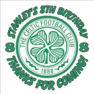 Personalised Celtic Football Party Stickers